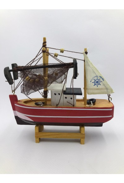 Çiko Toys Yelkenli Ahşap Gemi Maketi Küçük Boy 15 x 15 cm