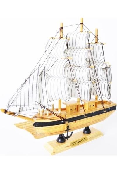 Çiko Toys Yelkenli Ahşap Gemi Maketi 28 x 28 cm