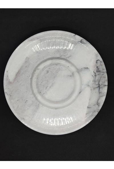 Pergamon Dekoratif Veya Sunum Gerçek Mermer Kanal Tabak
