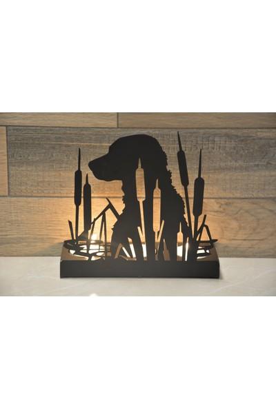 Pnr Trıple (Çoban Köpeği) Metal Mumluk Şamdan