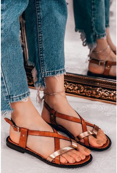 Adım Adım Taba Kadın Düz Sandalet