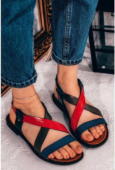 Adım Adım Kahve Kadın Düz Sandalet