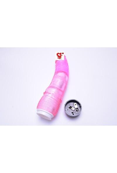 Anal Ve Vajinal Kullanım İçin Titreşimli Silikon Vibratör Pembe