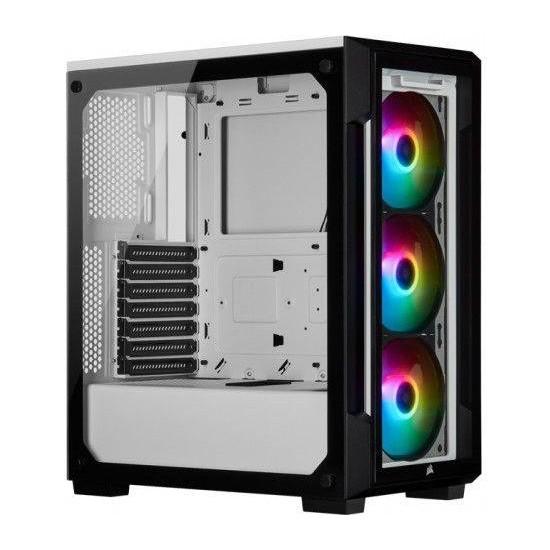 Corsair Icue 220T RGB CC-9011191-WW USB 3.0 Temperli Cam Beyaz ATX Mid-Tower Bilgisayar Kasa