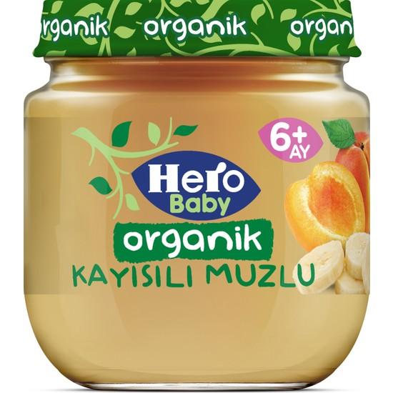 Hero Baby Organik Kayısı Muz Püresi Kavanoz Mama 120g