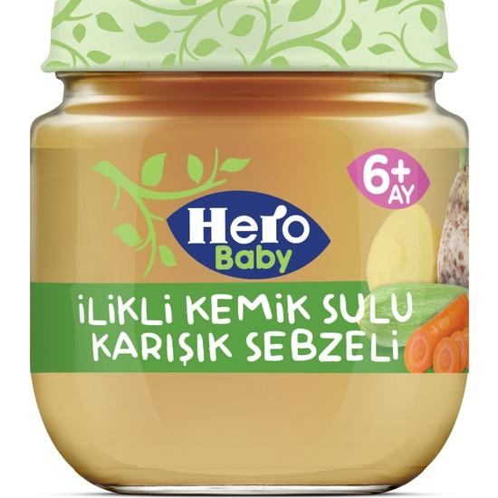 Hero Baby İlikli Kemik Sulu Karışık Sebzeli Kavanoz Mama 120g