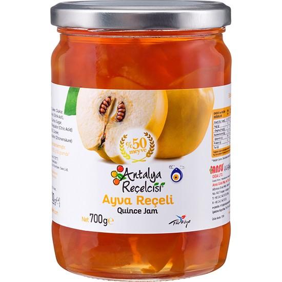 Antalya Reçelcisi Ayva Reçeli %50 Meyve Klasik Seri 700 Gr