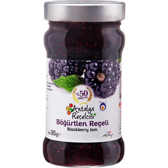 Antalya Reçelcisi Böğürtlen Reçeli %50 Meyve Klasik Seri 380 Gr