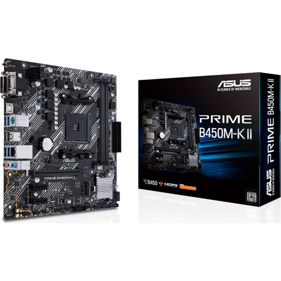 Asus Prime B450M-K II Amd B450 DDR4 4400 MHz (OC) Am4 mAtx Anakart