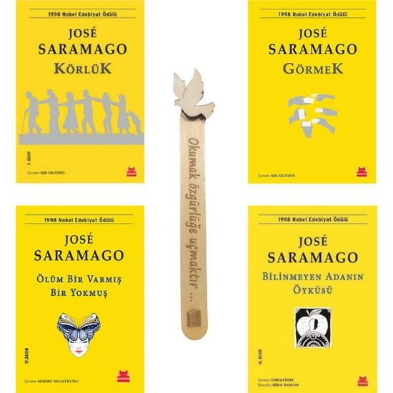Körlük- Görmek- Ölüm Bir Varmış Bir Yokmuş- Bilinmeyen Adanın Öyküsü-Jose Saramago Seti (4 Kitap) Cizo Kitap Ayracı