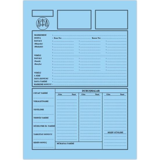 Kaya Büro Ofis Dava İcra Avukat Dosyası Mavi Küçük Boy 1. Kalite 100'lü