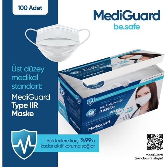 Mediguard TIP2R Meltblown 3 Katlı ve Telli Cerrahi Maske 100 Adet