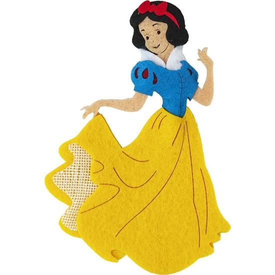 Toptan Keçe Keçe Pamuk Prenses Figürü 3 Adet Keçeden Pamuk Prenses Süsü