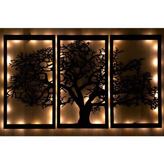 Pika Dekoratif 3 Parça Ağaç