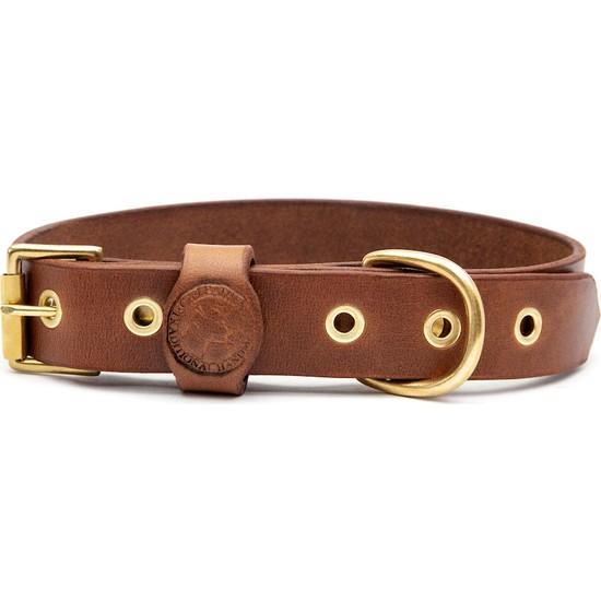 Ca-Leather Dakota Taba El Yapımı Gerçek Deri Köpek Tasması S