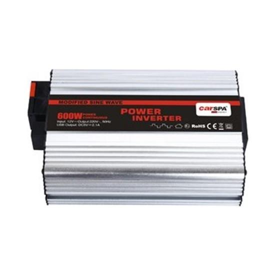 Carspa Modifiye Sinüs Inverter 600 W 12V USB Çıkışlı Carspa