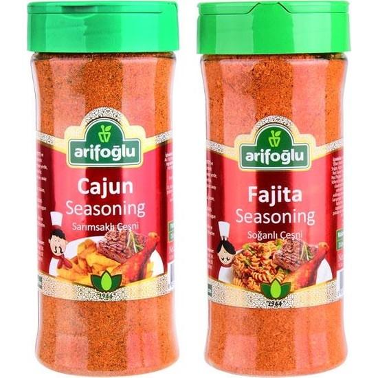 Arifoğlu Cajun Seasoning 230g + Fajita Seasoning 230g 2 Ürün