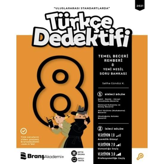 Branş Akademi 8. Sınıf Türkçe Dedektifi Temel Beceri Rehberi Yeni Nesil Soru Bankası