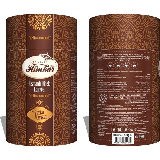 Adıyaman Hünkar Osmanlı Kahvesi Silindir Kutu 200 gr x 4 ( 800 gr )