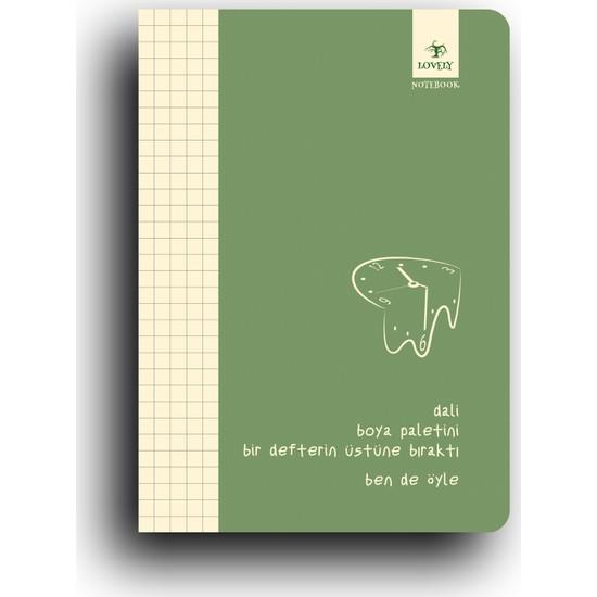 Lovely Book & Book Ben De Öyle Serisi Konsept Karton Kapak Defter 64 Sayfa Yeşil