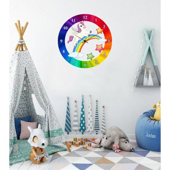 Reklamcım Çocuk Odası Unicorn Duvar Saati