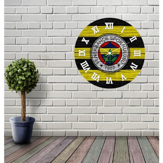 Reklamcım Fenerbahçe Dekoratif Mdf Duvar Saati