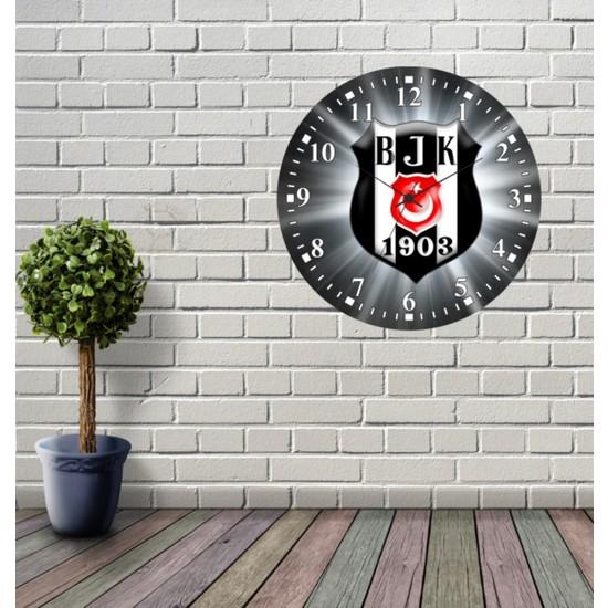 Reklamcım Beşiktaş Dekoratif Mdf Duvar Saati