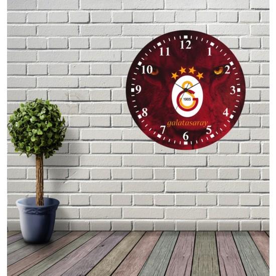 Reklamcım Galatasaray Dekoratif Mdf Duvar Saati