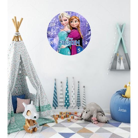 Reklamcım Çocuk Odası Frozen Duvar Saati