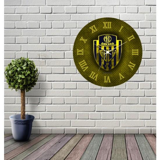 Reklamcım Ankaragücü Dekoratif Mdf Duvar Saati