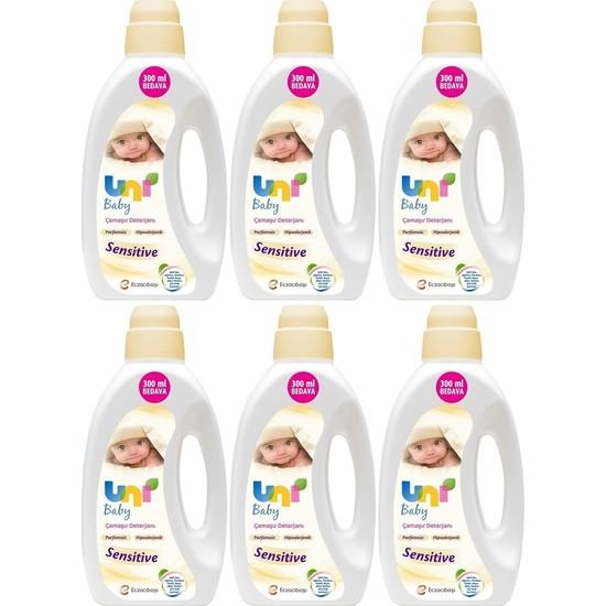 Uni Baby Sıvı Çamaşır Deterjanı Sensitive Parfümsüz 1800 ml 6'lı