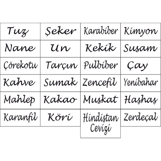 Sıcak Atölye Kavanoz Etiketi 24'lü Baharat Seti