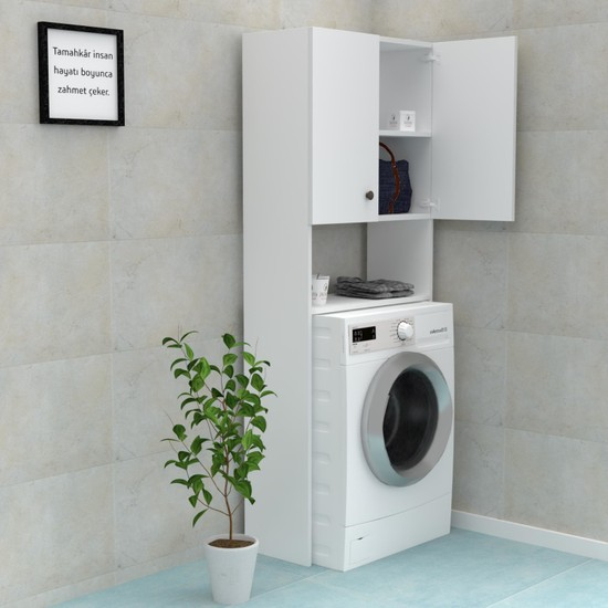 Kenzlife Çamaşır Makinesi Dolabı Veronika Byz 180*066*20 Banyo Ofis