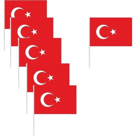 Crv Türk Bayrağı Küçük Boy Çıtalı 10'lu