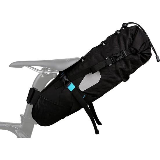 Roswheel Suya Dayanıklı 10L Bisiklet Kuyruk Çantası - Siyah