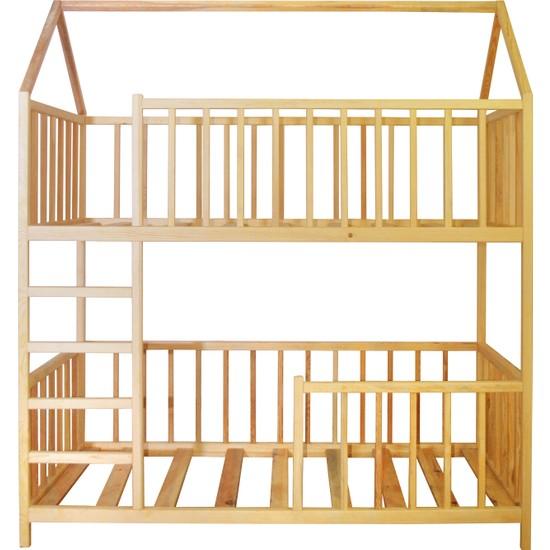 Ürün Şehri Montessori Yatak Ranza Doğal Ahşap Çocuk YATAK-CMY014
