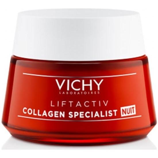 Vichy Liftactiv Collagen Specialist Night 50ML   Yaşlanma Karşıtı Gece Bakım Kremi