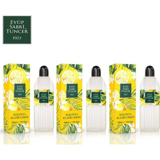Eyüp Sabri Tuncer Limon Kolonyası | 200 ml ( Pvc Şişe - 80 Derece ) x 3 Adet