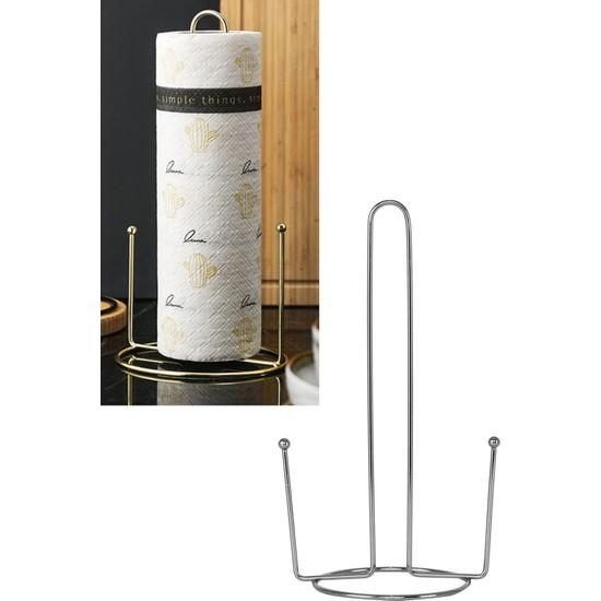 Metali Kağıt Havluluk Masa ve Tezgah Üstü Portatif Kağıt Havlu Standı Lüks Solo Kağıt Havlu Aparatı