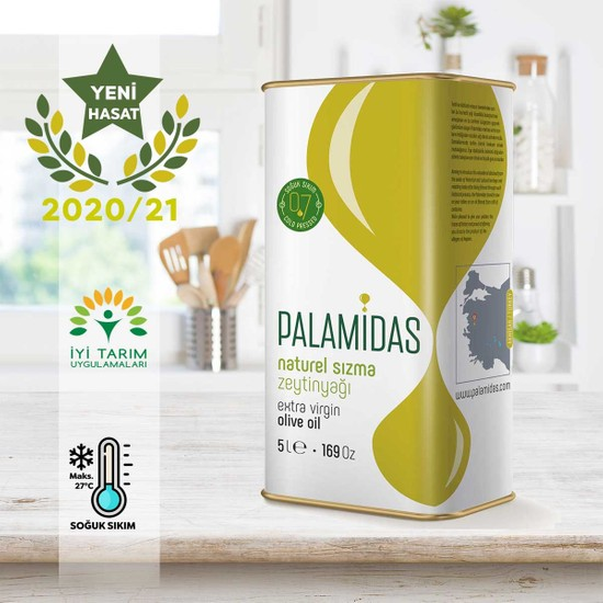 Yeni Hasat 5 L Soğuk Sıkım Nat Sızma Zeytinyağı 2020/21