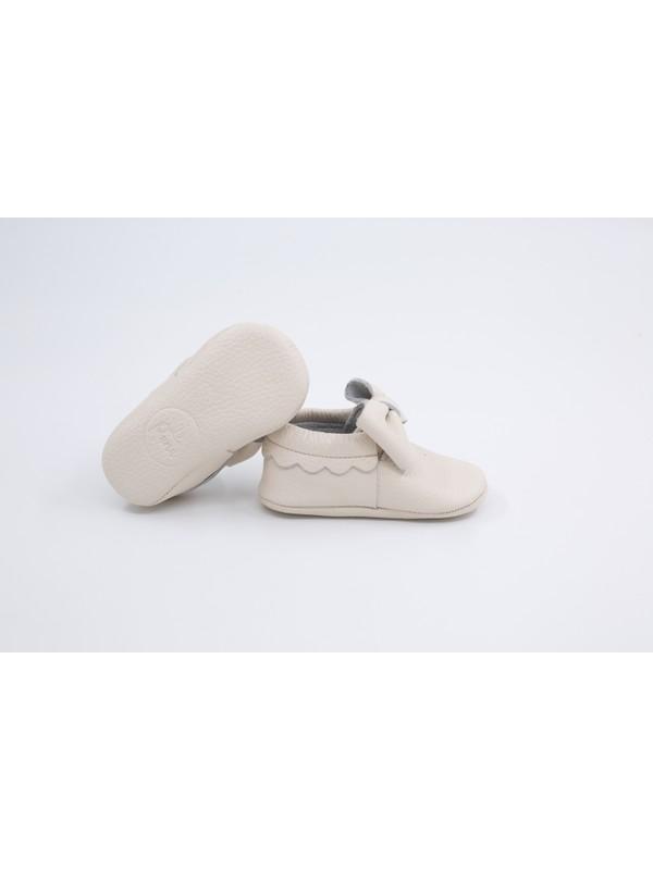 Li Puna Pody Serisi Beyaz Deri Bebek İlk Adım Ayakkabısı