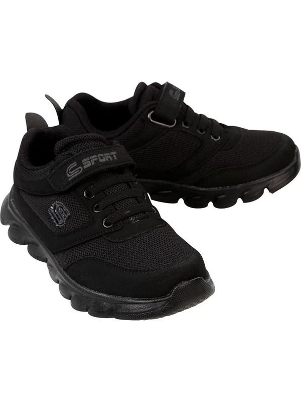 Sport Erkek Çocuk Spor Ayakkabı 31-35 Numara Siyah