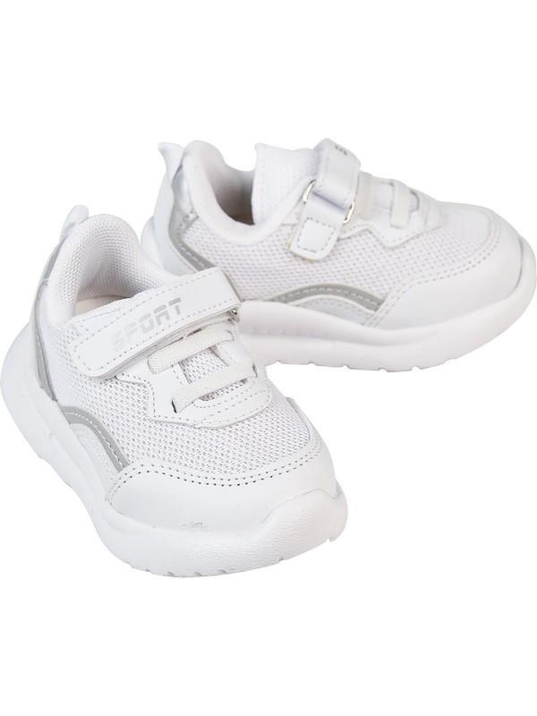 Sport Kız Çocuk Spor Ayakkabısı 22-25 Numara Beyaz