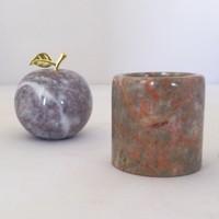 Tasarım Onyx Mermer Elma ve Saksı