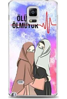 Kılıf Madeni Samsung Galaxy Note 4 Ölüm Ölmüyor Bayan Tasarımlı Telefon Kılıfı Y-Klfis0189