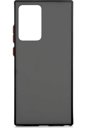 Vendas Samsung Galaxy Note 20 Ultra Drop Dizayn Premium Silikon Kılıf Siyah