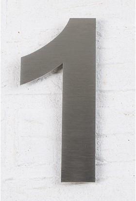 Se-Dizayn Kapı Numarası 10 cm No 1, Paslanmaz Çelik Kendinden Yapışkanlı