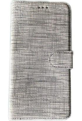 Kvy Samsung Galaxy S10 Plus Spor Kumaş Cüzdan Kılıf Gri