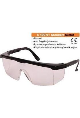 İsg Okulu Baymax S400 Şeffaf Koruyucu Çapak Işçi Gözlüğü Antifog