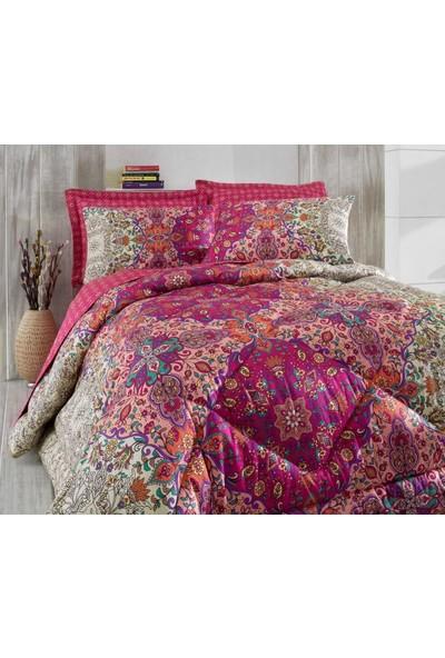 Cotton Box Saten Çift Kişilik Uyku Seti Tuğba Fuşya